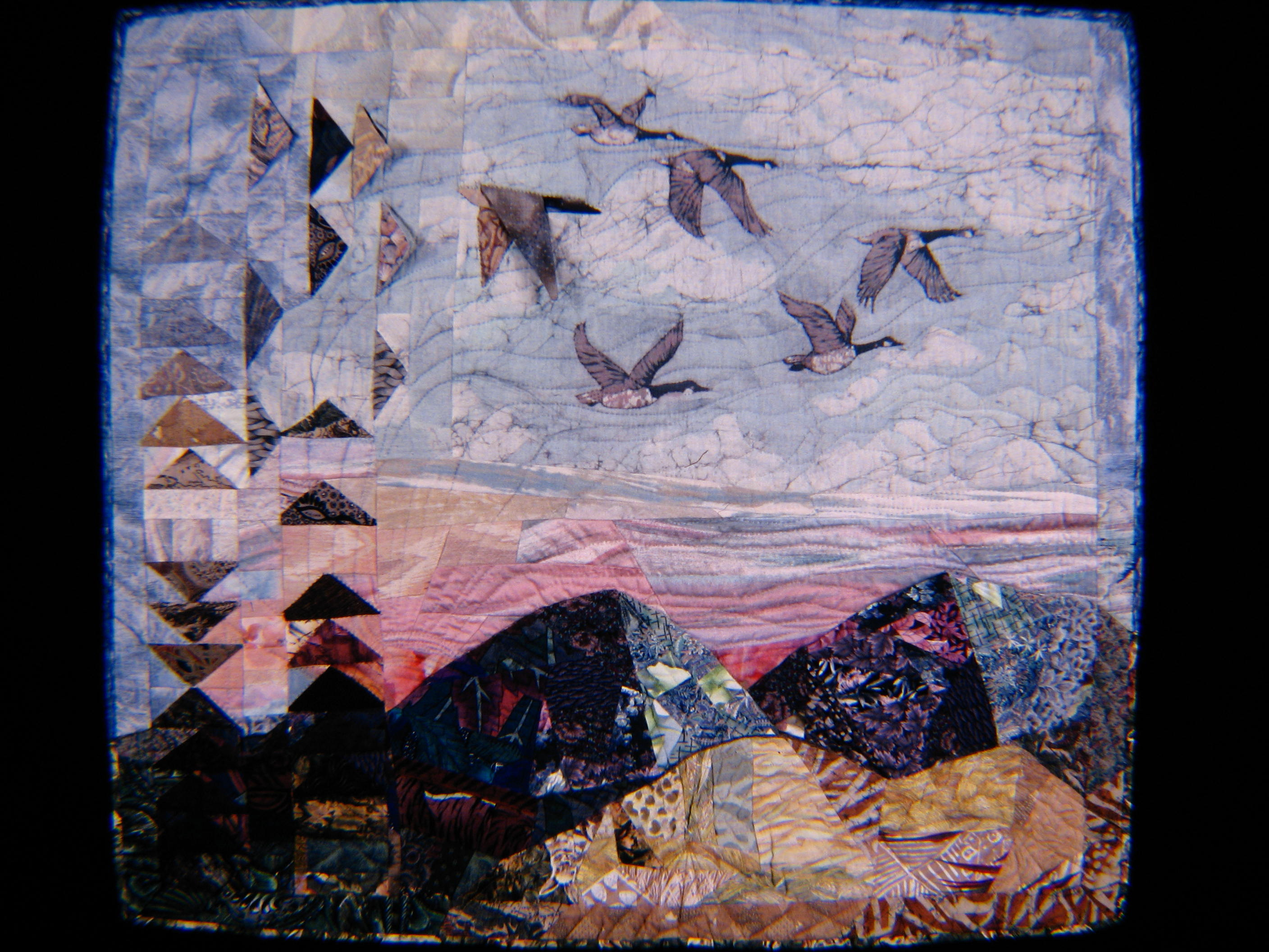 Bobbi Ward Quilts Painting With Fabric - It painting